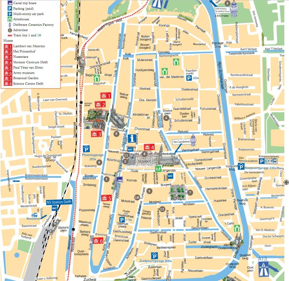 Map of Delft Mapas Pinterest Delft