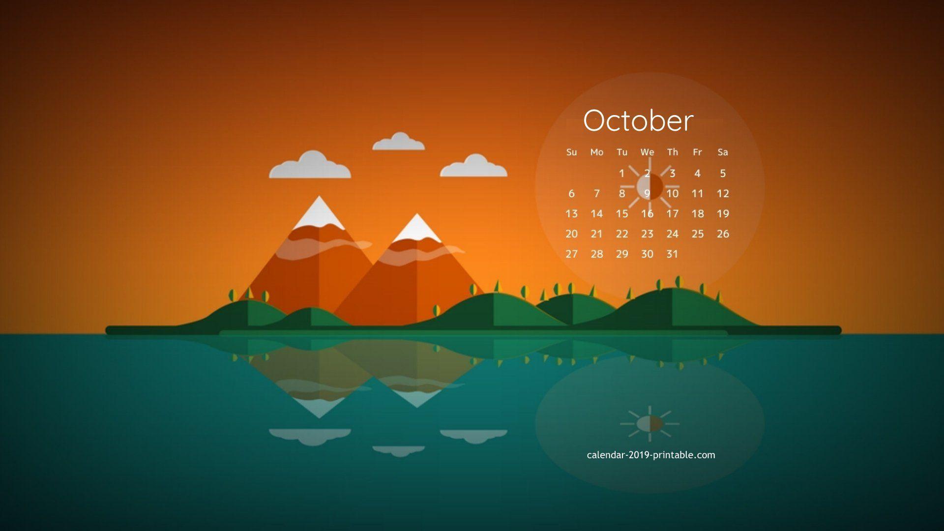 october 2019 calendar desktop wallpaper Desktop calendar