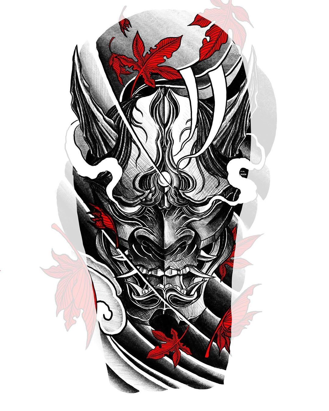 Amazing Japanese Style Shoulder Tattoo Sketch Samurai Tattoo Sleeve Japanese Warrior Tattoo Japanese Mask Tattoo