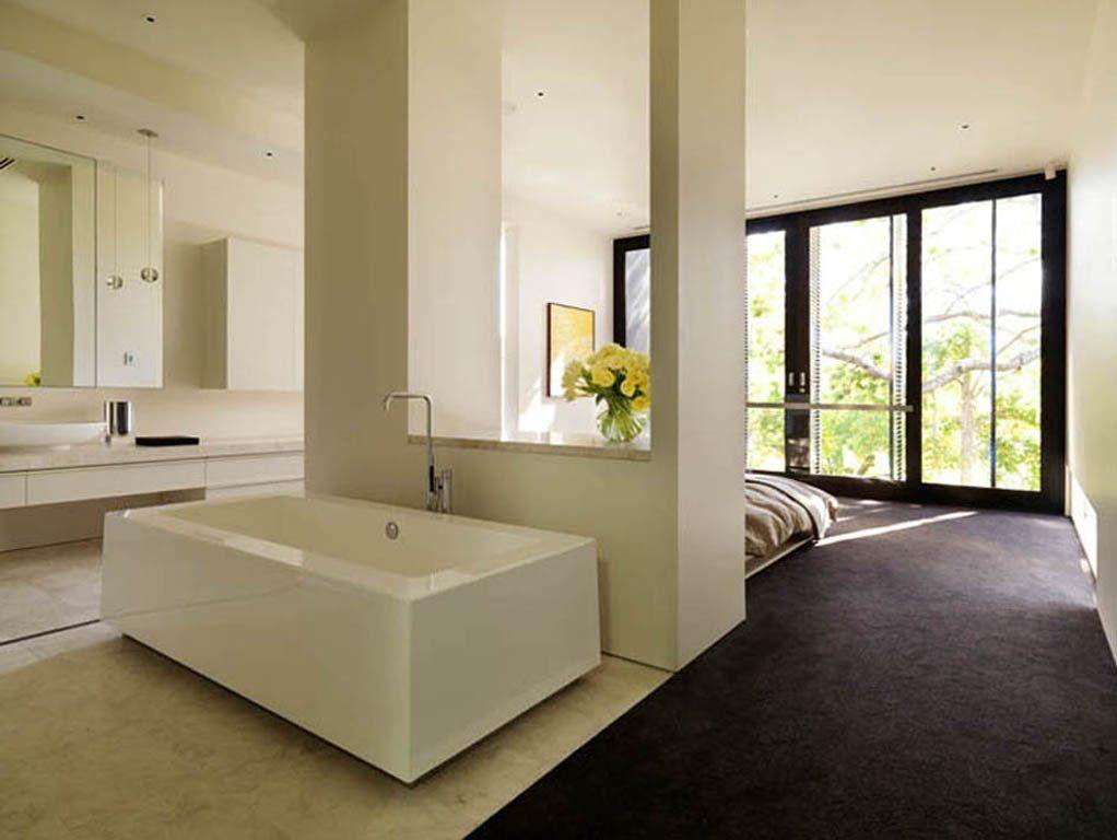 Open Bedroom Bathroom Design I Love The Idea Of An Open Bathroom  Home Decor  Pinterest