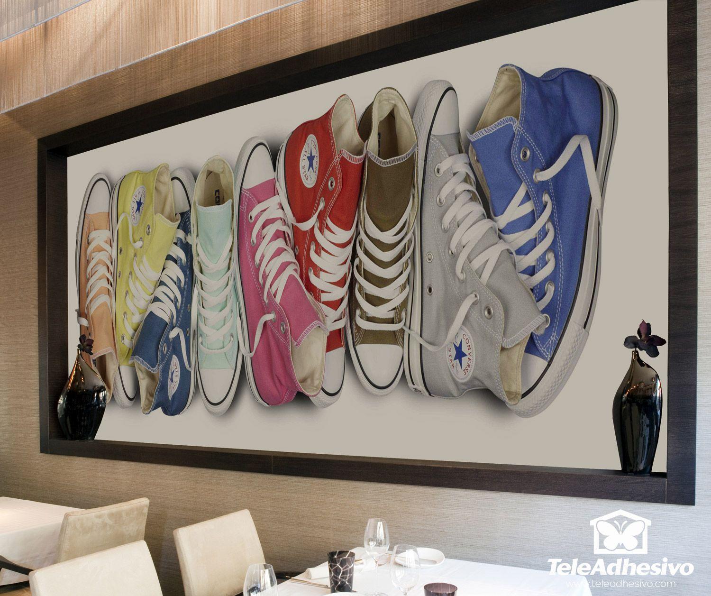 Vinilo decorativo Zapatillas Converse | Ideas para Unif