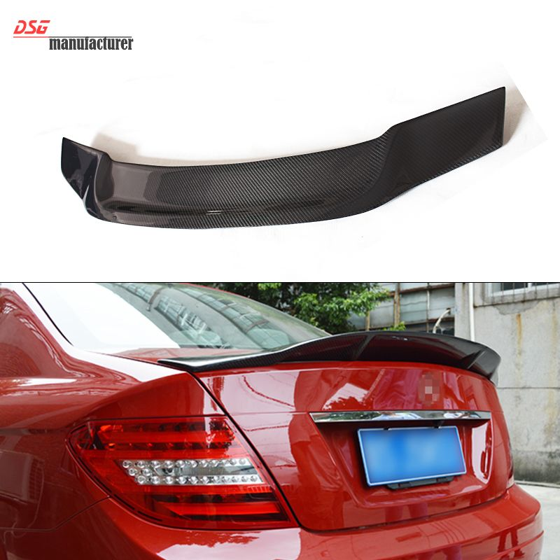 Mercedes W204 Renntech Style Carbon Fiber Replacement Trunk Spoiler