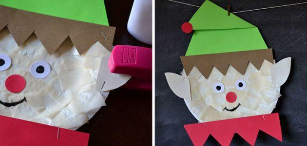 376b92f8566ee Manualidades de Navidad hechas con platos desechables  elfo