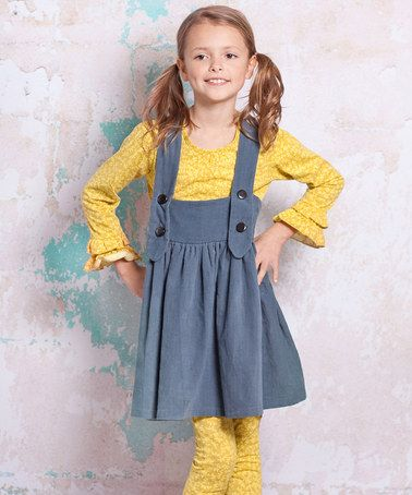 Take a look at this Slate Blue Bees Ollay Jumper - Infant, Toddler & Girls by Jelly the Pug on #zulily today!