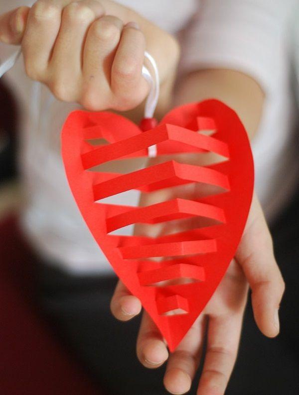 valentinstag bilder ideen diy basteln papier | Kreisel | Pinterest ...
