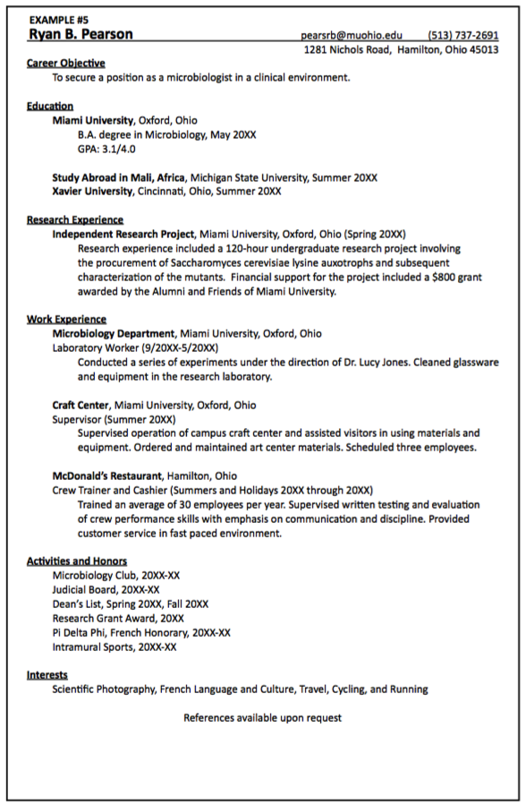 clinical microbiologist resume sample http exampleresumecv org
