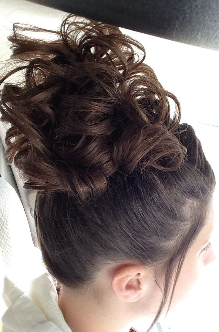 Updo, high pin curls, long hairstyles. This hairstyle, done by ...