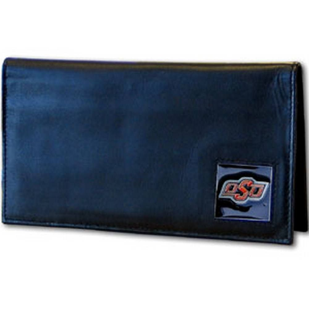 Oklahoma State Cowboys Deluxe Leather Checkbook Cover CDCK58BX