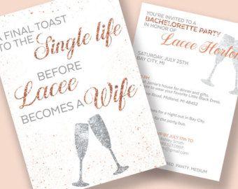 Bachelorette Invitations Bachelorette Party Itinerary A Final Toast To The Single Life Pr Bachelorette Party Itinerary Bachelorette Invitations Bachelorette
