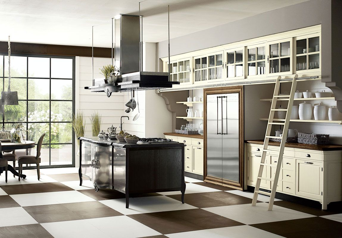 Marchi Cucine: Operà Cucina su misura in legno massello in stile ...