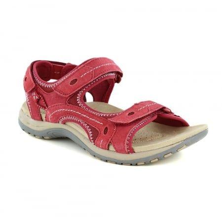 28604f33f70e Earth Spirit Arlington Womens Walking Sandals - Cherry Red