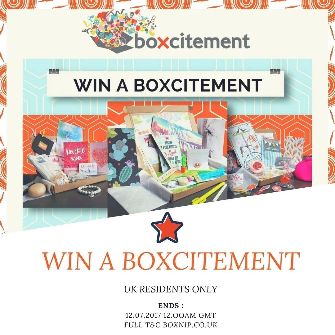 GIVEAWAY WIN A BOXCITEMENT UK ONLY So as I said on my