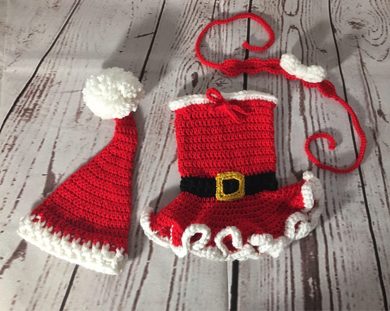 Newborn Christmas Outfit  Santa Dress Baby  Baby Christmas Dress