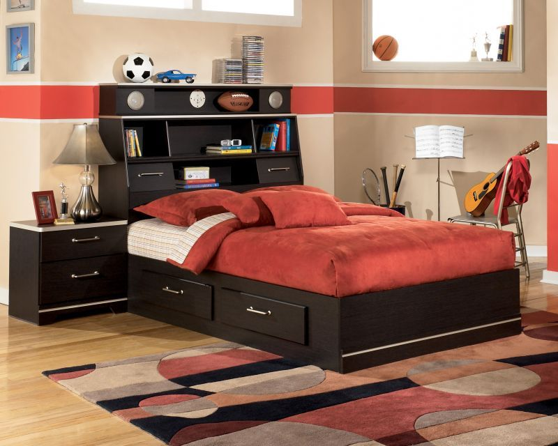 1 089 99 Signature Design Java Oak Grain Full Complete Bedroom Suite B151 With An Exciting Contemporary That Is Sure To Peak Any Kid S Interest