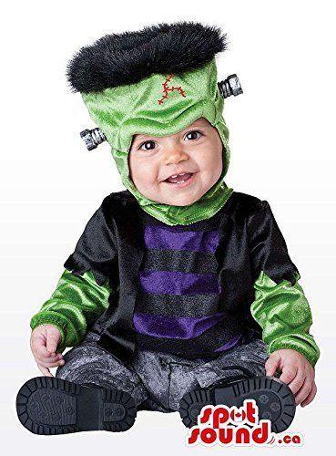 Cute Halloween Frankenstein Toddler Child Size Costume Disguise - halloween kids costume ideas