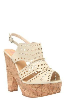 50b2041372 Torrid Nude Summer Faux Leather Cutout Cork Wedge Heels Platform Shoes Size  12w for sale on ebay.