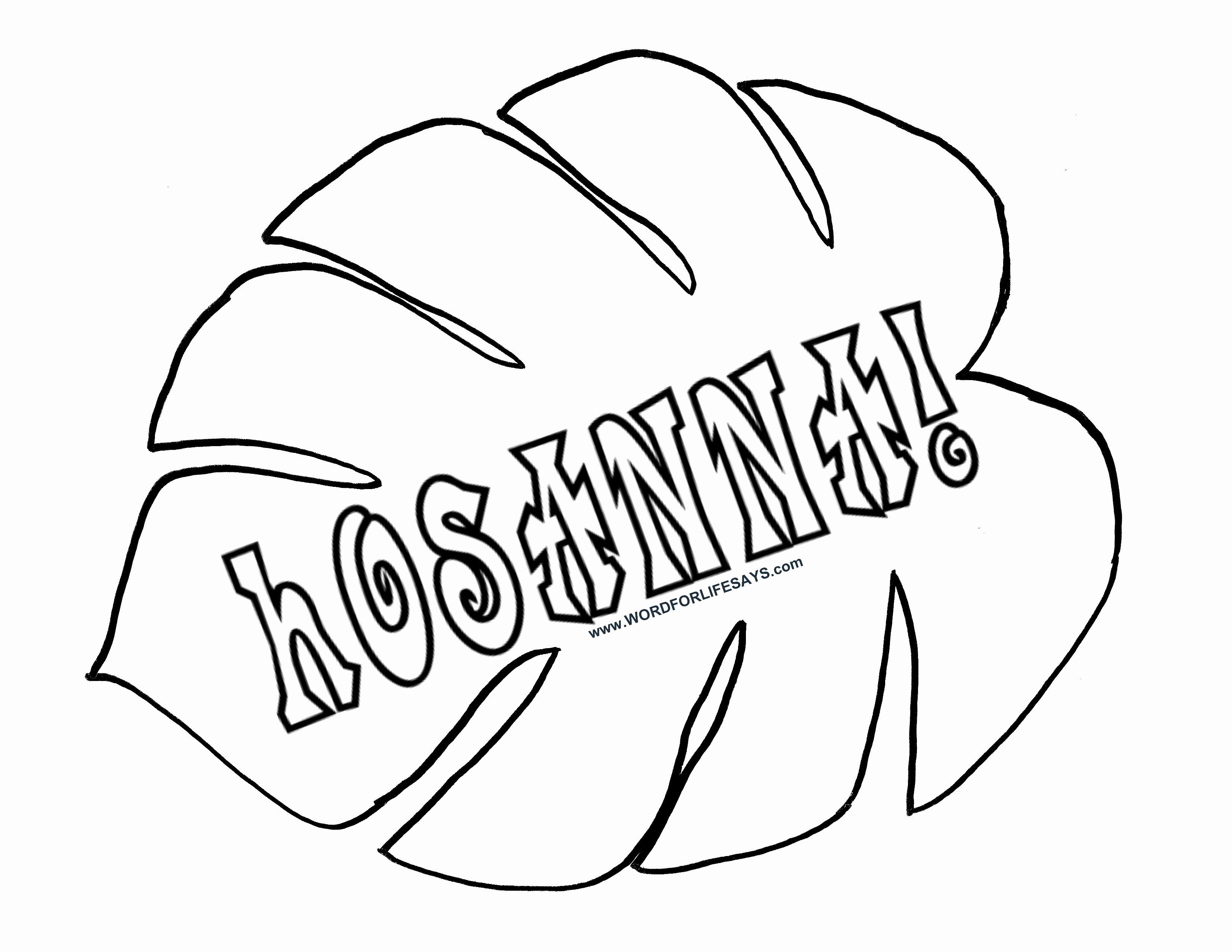 Coloring Pages For Palm Sunday With Images Leaf Template
