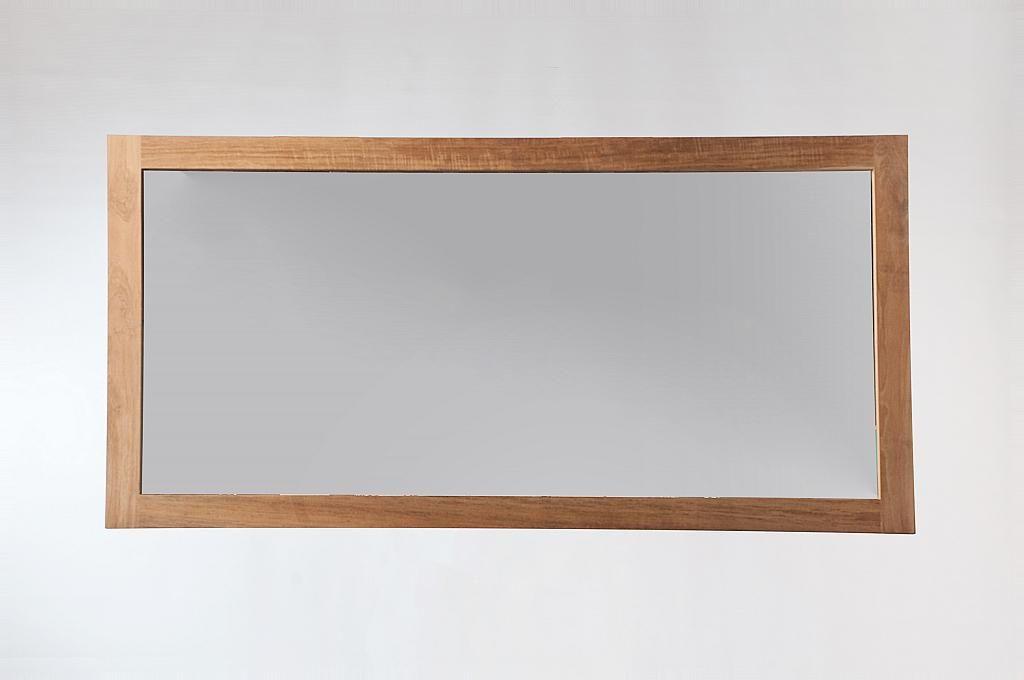 Miroir de salle de bain en teck 140 x 70cm SANA Miliboo
