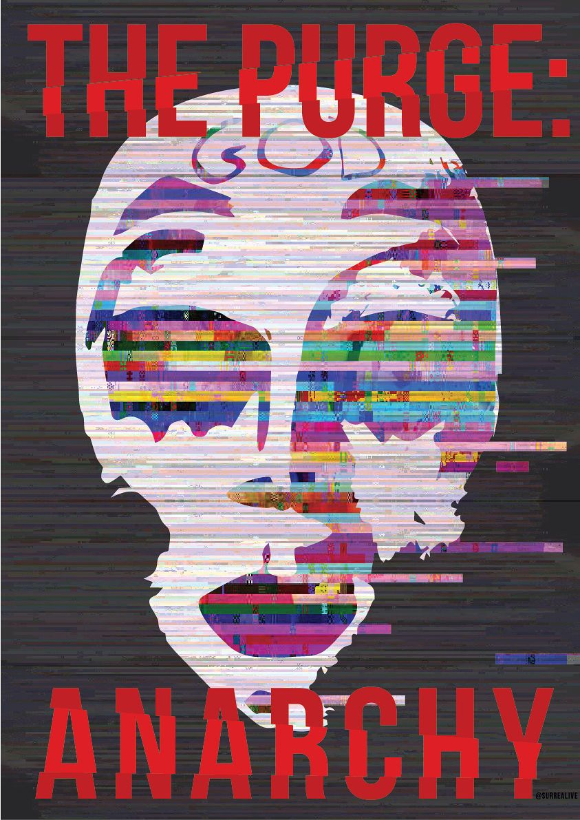 Poster design creator - The Purge Anarchy By Creator Zi Wei Koh