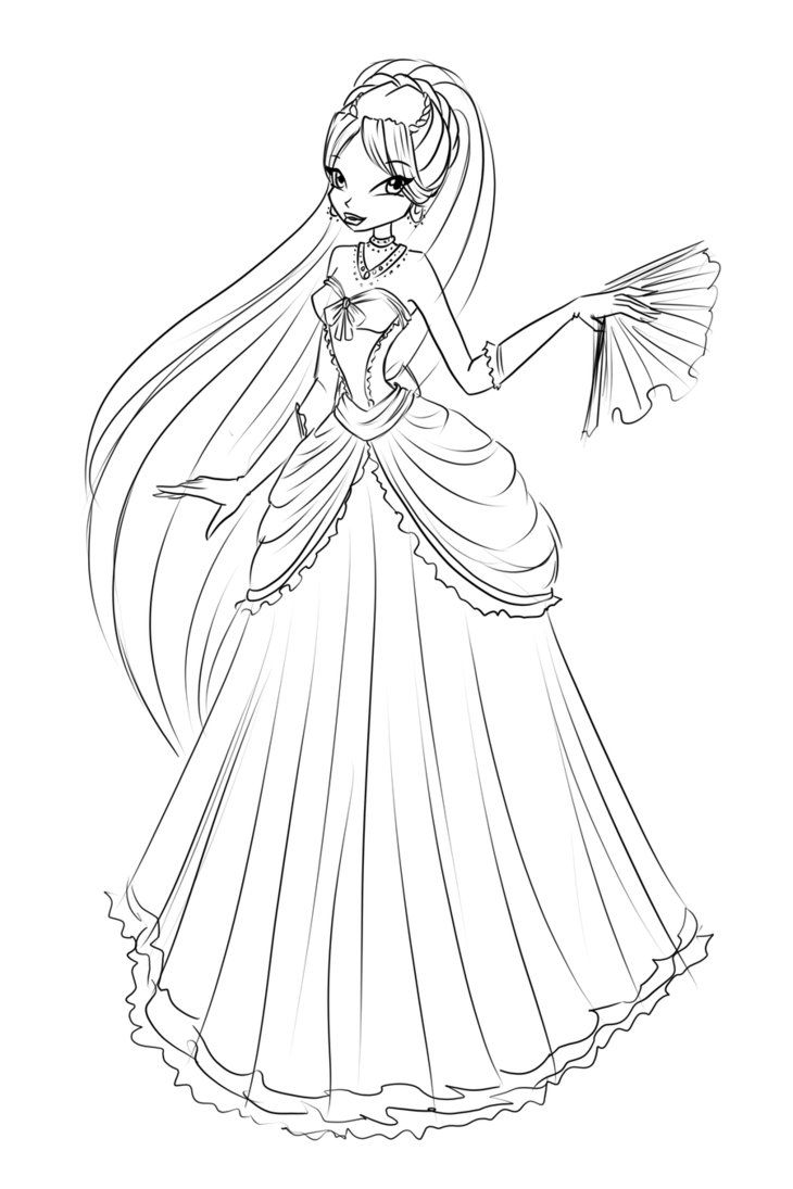 Com Sketch Diana Ball Dress By Laminanati On Deviantart Coloring