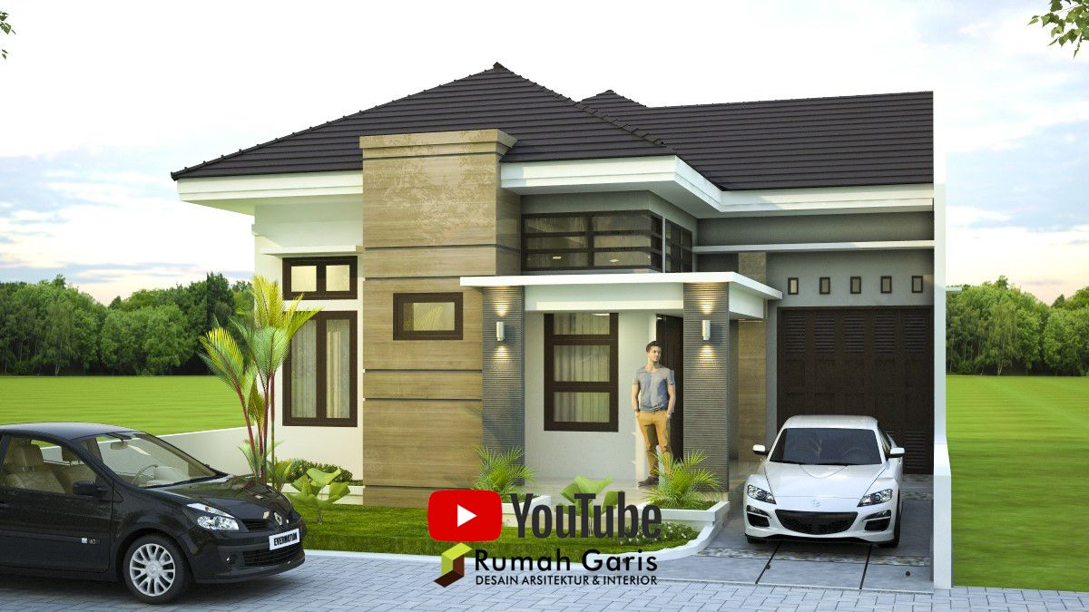 Front View Home Design 1 Floor Small House Modern Minimalis Easy To Build Simple Good Idea Di 2020 Rumah