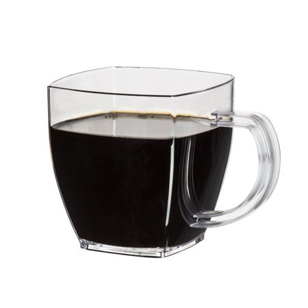Sm8cl 8 Oz Clear Disposable Plastic Square Coffee Mugs