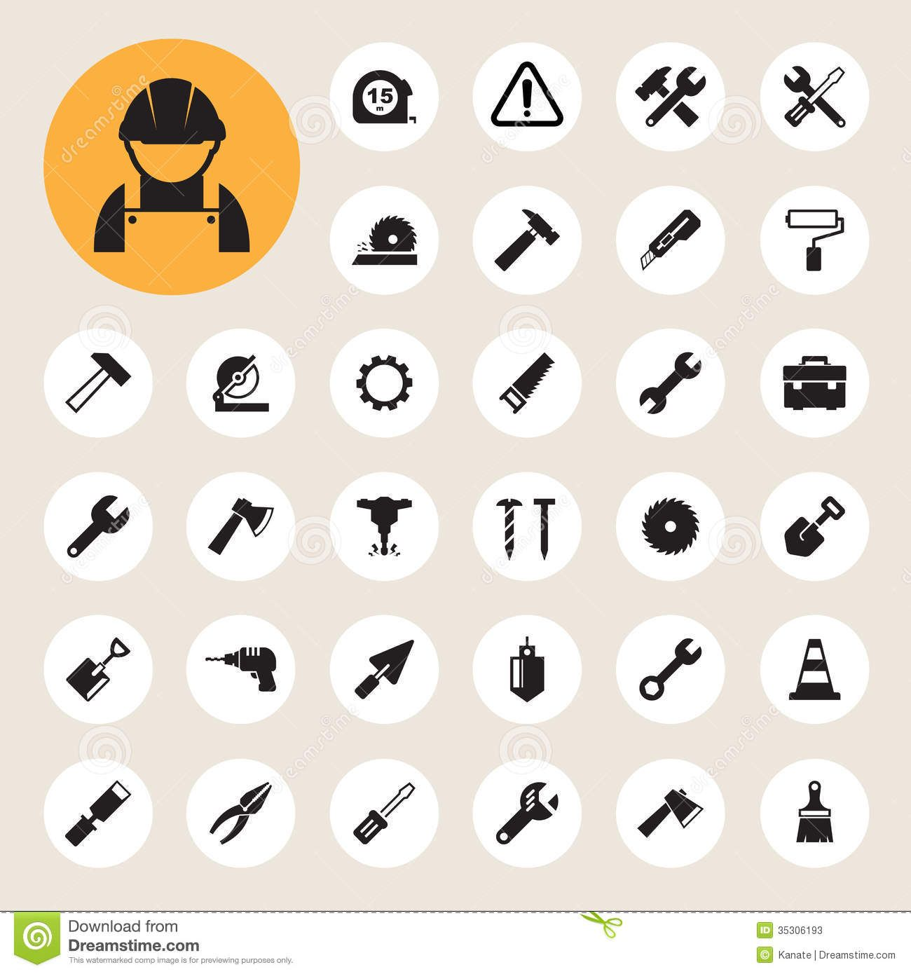 Construction Icons set Construction logo, icon