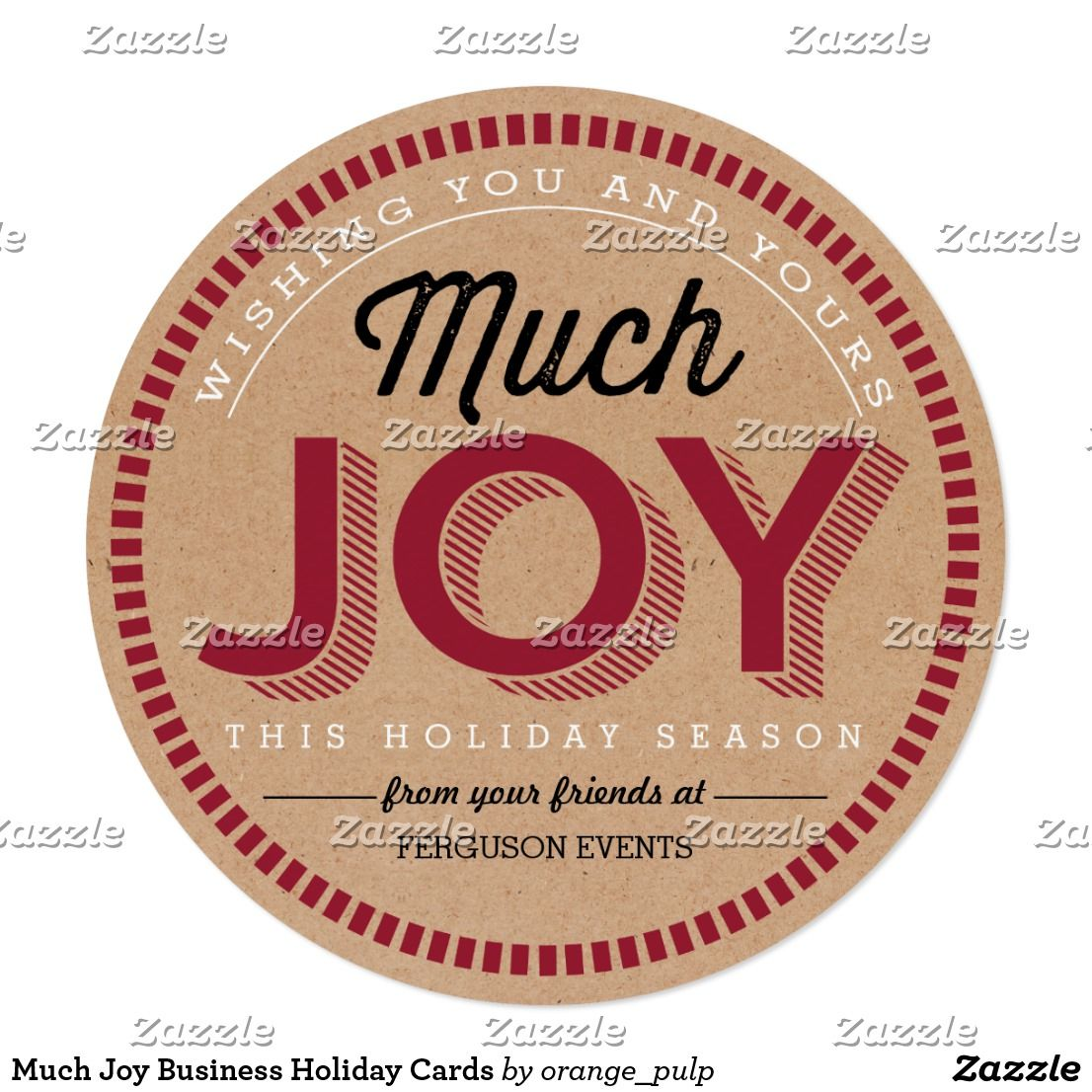 Much Joy Business Holiday Cards Business