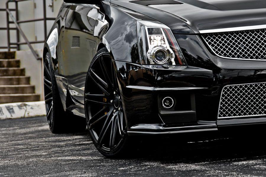 22 Quot Xo Milan Black Concave Wheels Rims Fits Cadillac Cts V