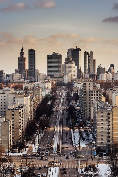 Downtown Warsaw #city #cities #buildings #photography