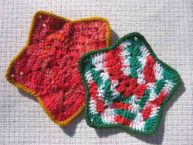 [Free Pattern] Sweet Little Dish Cloth Designed In Honor Of Independence Day, July 4th - Knit And Crochet Daily