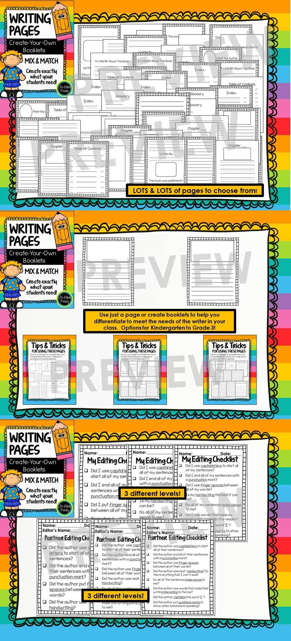 blank writing template pages create your own writing booklets lucy