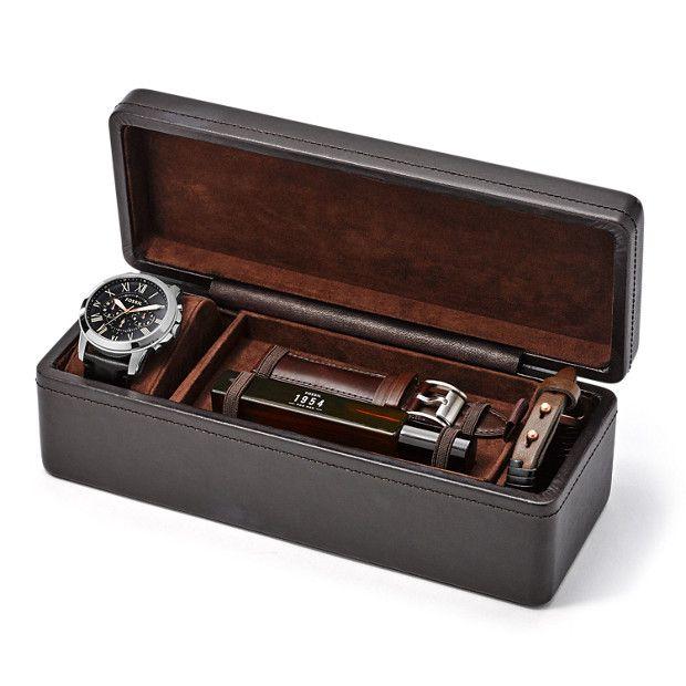 coffret montre grant en cuir fossil pinterest coffret montre coffret et cuir. Black Bedroom Furniture Sets. Home Design Ideas