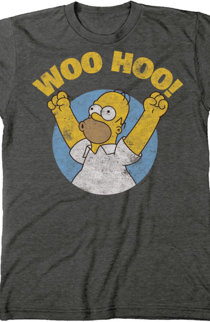 4b5c37b40db51 Homer Simpson Woo Hoo T-Shirt  The Simpsons Mens T-Shirt