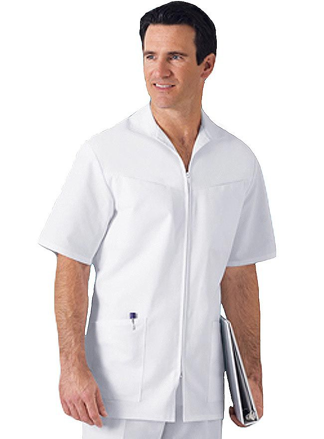 80f265c45be Style Code: (CH-1373) Men will be find great style with this nursing scrub  jacket from Cherokee Uniforms. It comes with a flat collar, separating zip  front ...