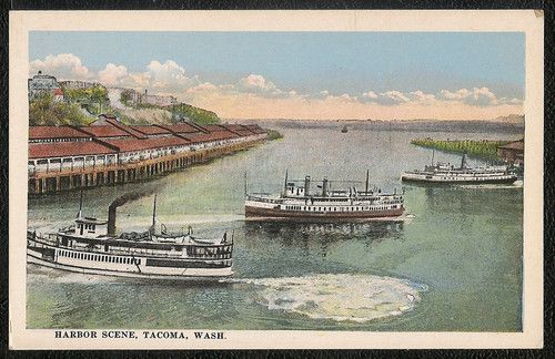 Steamers in The Harbor Tacoma Washington | eBay
