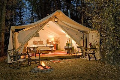 Luxury tents with 24 hour butler service in Jackson Hole.  This may make me rethink my position on camping.