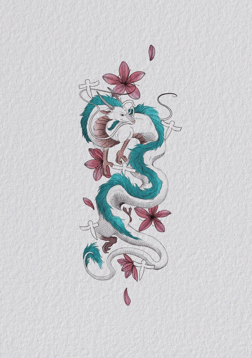 Haku Feom Spirited Away On Made With Procreate Ghibli Tattoo Dragon Tattoo Art Tattoo