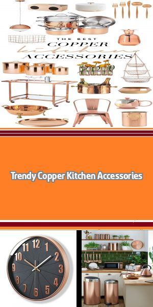 Trendy Copper Kitchen Accessories Stunning copper kitchen accessories will take your kitchen decor up to a new level! Shop some of the trendiest finds rounded up just for you! #copperkitchenaccessories