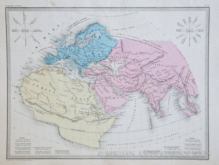 Malte-Brun Map of the Complete Ancient World (1862)