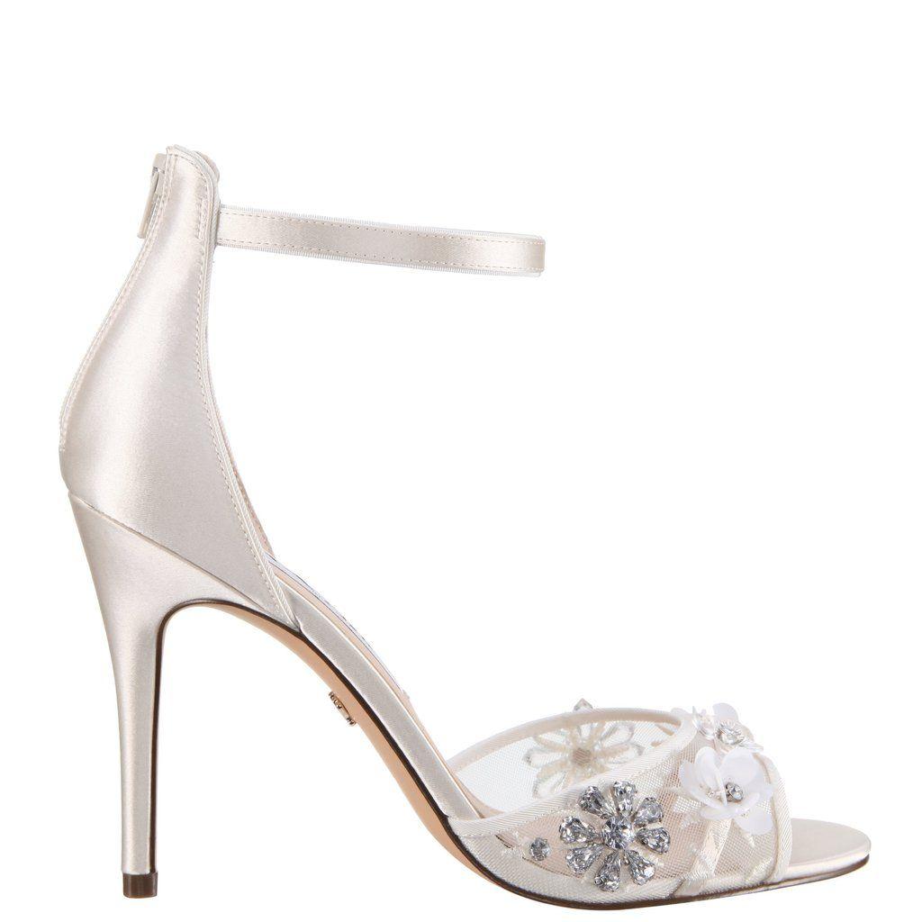 Clarity Ivory Satin Nina Bridal Shoes Bridal Shoes Nina Shoes Wedding