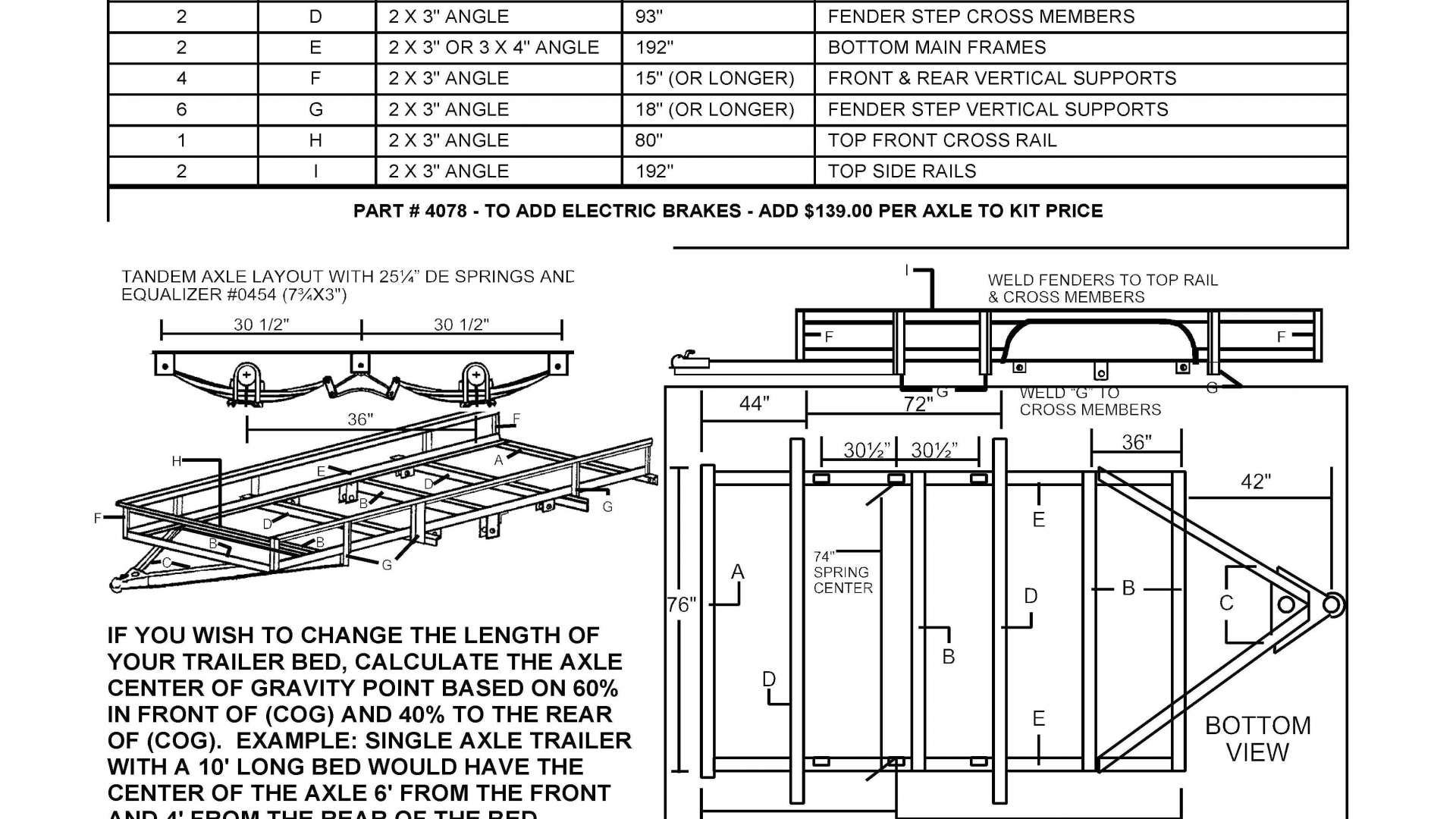 hight resolution of image result for tandem axle utility trailer plans