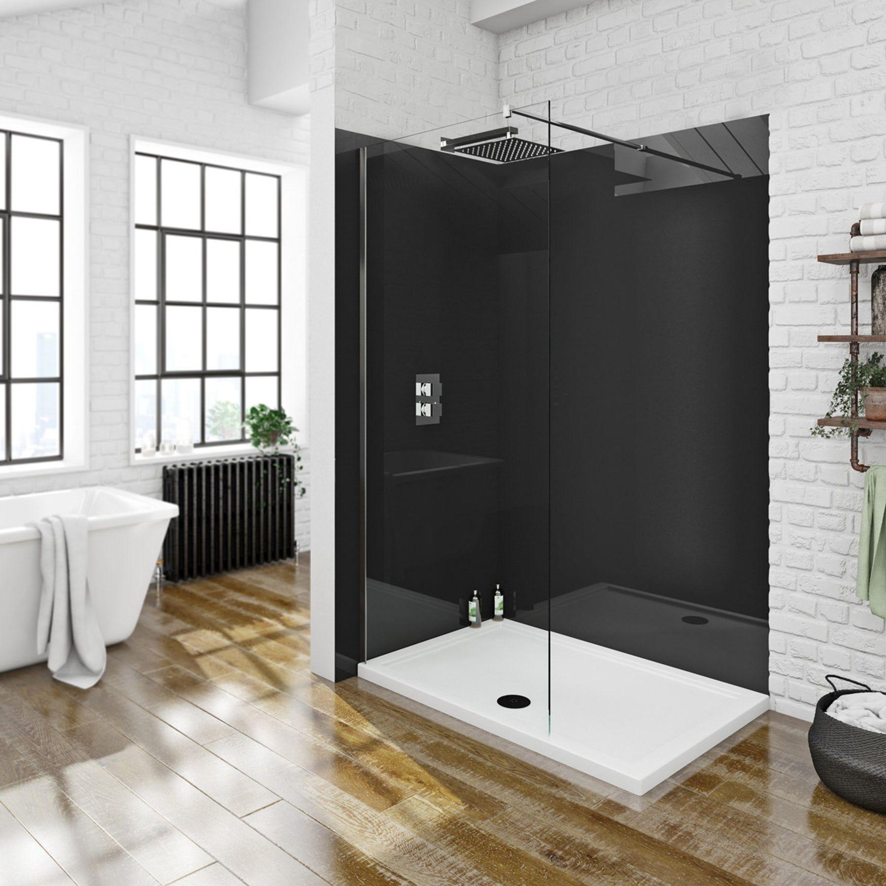 Zenolite Plus Jet Acrylic Shower Wall Panel 2070 X 1000 Victoriaplum Com Acrylic Shower Walls Shower Wall Panels Shower Wall