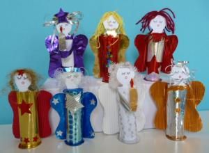 Bastelideen basteln weihnachten engel klorollen kid - Bastelideen nikolaus ...