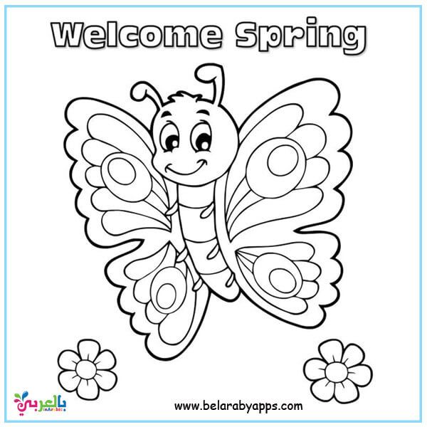 Butterfly Coloring Pages For Kids Preschool Belarabyapps Spring Coloring Sheets Butterfly Coloring Page Spring Coloring Pages