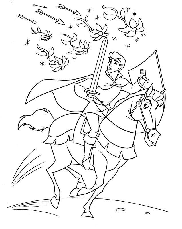 prince philip coloring pages | Pin by .1TRH1. on Disney | Sleeping beauty coloring pages ...