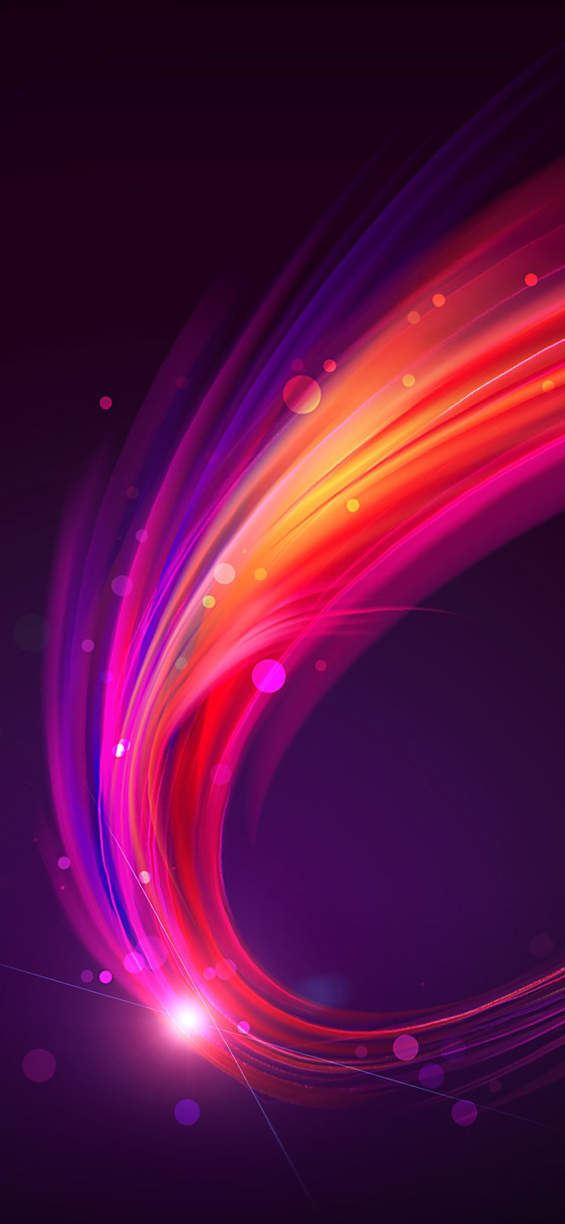 Purple Abstract Waves iPhone X 4K Wallpaper