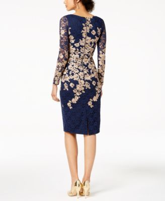 2f8dc7d1015 Xscape Evenings Floral-Embroidered Lace Dress