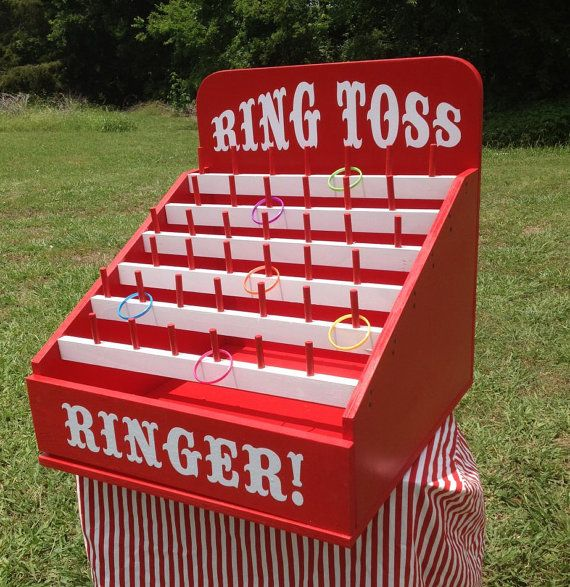 Ring Toss Carnival Game for Birthday, Church, VBS, School Party or Trade Show. Carnival Games
