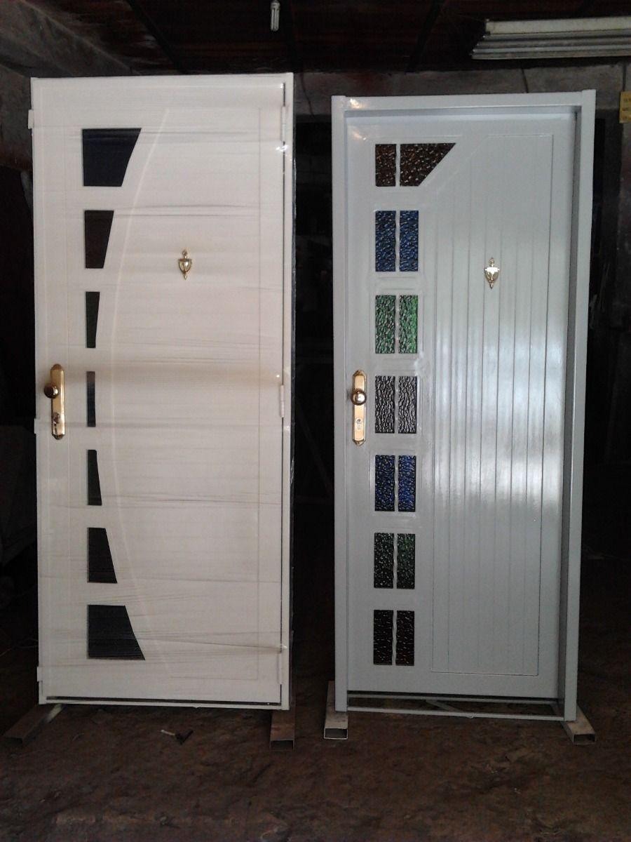 Puerta de hierro principal 103801 mlv20417554216 092015 f for Modelos de puertas de hierro con madera